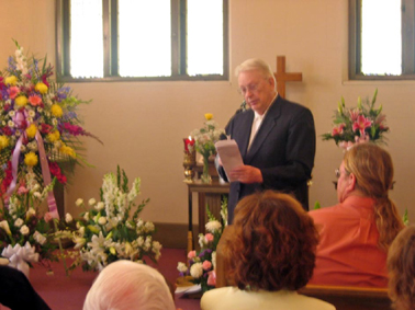 Memorial service, Sacramento, Mr. Morgan, 7-29-2005, thanks to Jack
