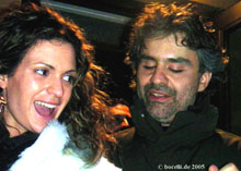 Veronica and Andrea after Werther in Bologna, January 2004, thanks to Sue Truitt!