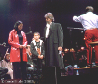 Prag, 4. 10. 2003, rehearsals, Proben, photo copyright Bocelli.de