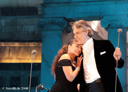Neapel, 24.10.08, with Cecilia Bartoli, photo copyright www.bocelli.de