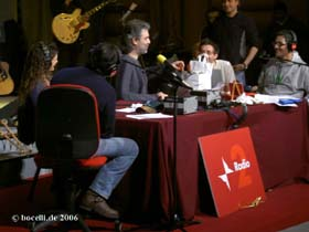 Rome, March 13, 2006, Fiorello Show Radio Rai2, foto copyright bocelli.de 2006