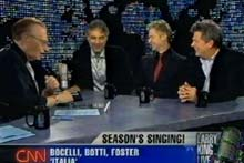 Larry King, CNN, 15.12.07 mit Chris Botti und David Foster