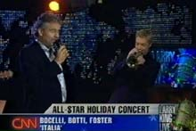 Larry King, CNN, 15.12.07 mit Cris Botti und David Foster